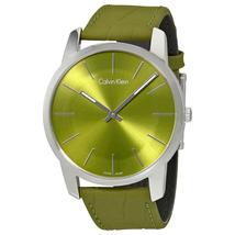 Đồng hồ CALVIN KLEIN City Green Dial green Leather Men's Watch