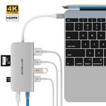 Cáp chuyển đổi đa năng USB-C Hub Type C 8 trong 1 cho Macbook hiệu ANNBOS - USA.