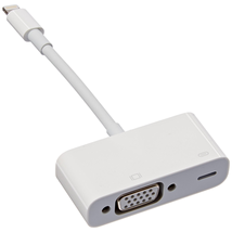 Cáp Apple MD825AM/A Lightning to VGA Adapter for iPhones, iPads - Retail Packaging -NEW