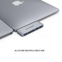Cáp chuyển đổi đa năng USB-C Hub Type C 5 trong 1 cho Macbook hiệu ANNBOS - USA.(Silver)