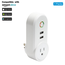 ANNBOS Usb WiFi Outlet Smart Plug Compatible with Alexa, Google home