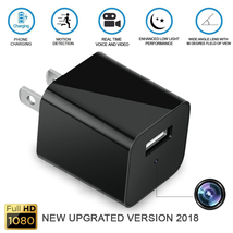 ANNBOS Spy Camera Full 1080P Motion Detection Mini USB Wall Charger Adapter Camera Security with Internal 32GB SD Card