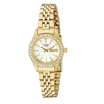 Đồng hồ Citizen Women's Goldtone Watch With Crystal Accents