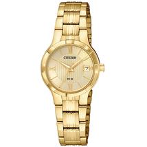 Citizen Women's Quartz Stainless Steel Casual Watch, Color Gold-Toned (Model: EU6022-54P)