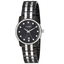 Đồng hồ Citizen Women's ' Quartz Stainless Steel Casual Watch, Color Black (Model: EU6037-57E)