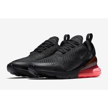 Giày Nike Men's Air Max 270, Black/Black-Hot Punch