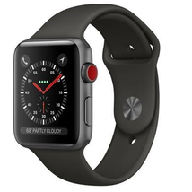Apple MTF32LL/A Watch Series 3-Space Gray Aluminum Case with Black Sport Band 42mm NEW