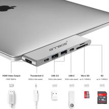 USB-C Hub AnnBos 7-in-1 Type C Hub A028KH7 (Silver)