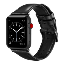 Dây da cho đồng hồ Apple Watch Band 42mm 44mm Sport and Edition. Black