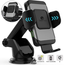 Sạc xe hơi ZeeHoo Wireless Car Charger,10W Qi Fast Charging Auto-Clamping Car Mount,Windshield Dashboard Air Vent Phone Holder Compatible