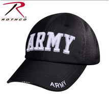 Nón 9589 Rothco Mesh Back Army Tactical Cap - Black