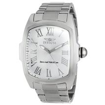 Đồng hồ nam dây thép không gỉ Invicta Men's 15187 Lupah Stainless Steel Bracelet Watch (Bạc)