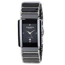 Đồng hồ Akribos XXIV Men's AK521BK Ceramic Rectangular Quartz Bracelet Watch