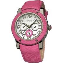 Đồng Hồ Akribos XXIV Women's AK560RD Quartz Multi-Function Genuine Leather Watch
