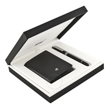 Montblanc Meisterstuck Classique Rollerball Pen and Business Card Holder Gift Set 118907