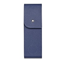 Montblanc Montblanc Sartorial Saffiano Leather 2 Pen Pouch - Indigo 115414