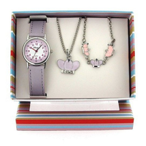 Bộ đồng hồ The Olivia Collection Kids Crown Watch & Jewellery Gift Set For Girls KS003