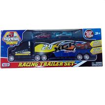 Bộ xe hơi đồ chơi Motor Max Trucking World Racing Trailer (76538ROSS)
