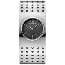 Đồng hồ nữ dây thép không gỉ Calvin Klein Grid Women's Quartz Watch K8324107