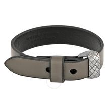 Bottega Veneta Leather Bracelet- Steel 474222 VIAI4 ST