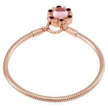 Pandora Pandora Ladies Heraldic Radiance Padlock Bracelet, Rose and Pink and Purple Crystals Sterling Silver Bracelet Size 16 587635NPM-16