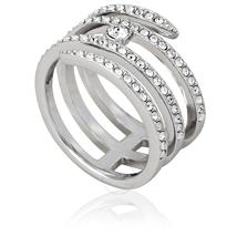 Swarovski Creativity Coiled Silver-tone Ring - Size 6 5221413
