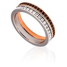 Swarovski Hint Double Ring, White, Mixed Plating 5350672-55