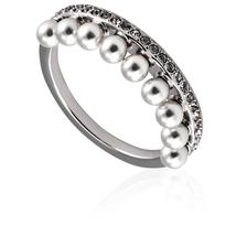 Swarovski Ladies Lisboa Ring, White, Rhodium Plated Size 55 5388859