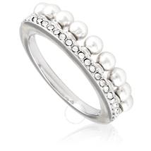 Swarovski Swarovski Lisboa Ring White Rhodium Plated Size 52 5412303