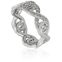 Swarovski Rhodium Plated Infinity Ring - Size 5354809