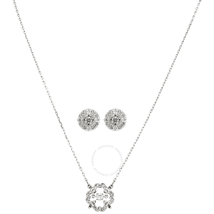 Swarovski Sparkling Dance Rhodium Plated Necklace and Earrings Set 5397867