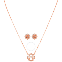 Swarovski Sparkling Dance Rose Gold-Plated Necklace and Earrings Set 5408439