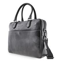 Emporio Armani Men's Black Pebble Leather Briefcase Y4P050-YDE2J-80001