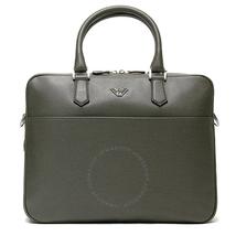 Emporio Armani Men's Gray Soft Saffiano Briefcase Y4P082-YAQ2E-80155