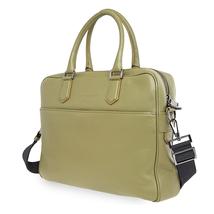 Emporio Armani Men's Green Pebble Leather Briefcase Y4P050-YDE2J-82265