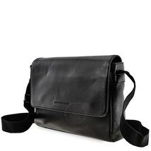 Emporio Armani Men's Leather Messenger Bag in Black Y4M137-YDE2J-80001