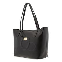 Ferragamo Gancini Calfskin Leather Tote- Black 21H019 691319