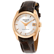 Tissot Couturier Automatic Silver Dial Ladies Watch T0352073603100 T035.207.36.031.00