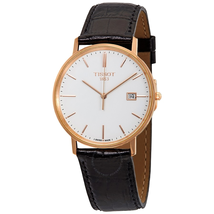 Tissot Goldrun White Dial Black Leather Men's Watch T922.410.76.011.00