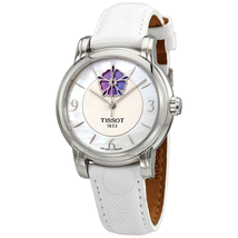 Tissot Lady Heart Flower Automatic White Mother of Pearl Dial Ladies Watch T0502071711705