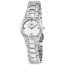 Tissot T-Round White Dial Diamond Ladies Watch T0960091111600 T096.009.11.116.00