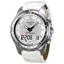 Tissot T-Touch II Multi-Function Silver Dial Titanium Ladies Watch T047.220.46.086.00