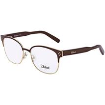 Chloe Chloe Gold Brown Geometric Ladies Eyeglasses CE213174353 CE213174353