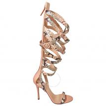 Giuseppe Zanotti Ladies Pink Sandal Knee Gladiator Sandals LJE703/001