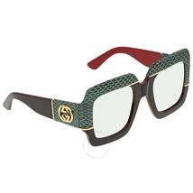 Gucci Gucci Green Gradient Square Ladies Sunglasses GG0484S 003 54 GG0484S 003 54