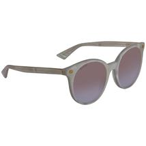 Gucci White Round Sunglasses GG0091S 004 52