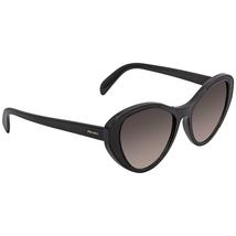 Prada Grey Gradient Plastic Cat Eye Ladies Sunglasses PR 14US 1AB0A7