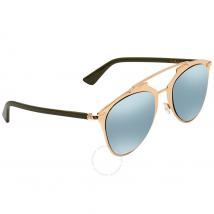 Dior Azure Mirror Lens Aviator Ladies Sunglasses DIORREFLECTED XX8/3J 52