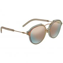 Dior Eclat Grey Rose GOld Lens Oval Ladies Sunglasses DIORECLAT GBZ/0J 60