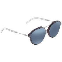 Dior Grey Light Blue Geometric Ladies Sunglasses DIORECLAT GNO/T7 60